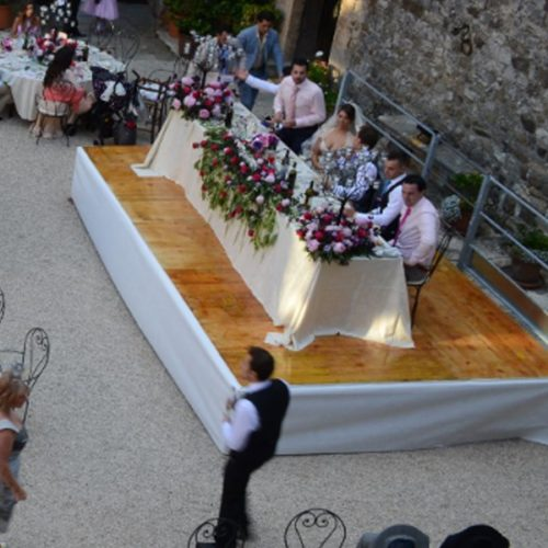 Stage show rental for events in Tuscany